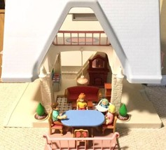 Little Tikes Dollhouse Doll House Dark Blue Roof w/Dolls, Furnitures Sets - $175.00