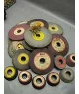 Norton Grinding Wheels Assorted Sizes And Mixed Mfgs 25 LB Box - $100.18