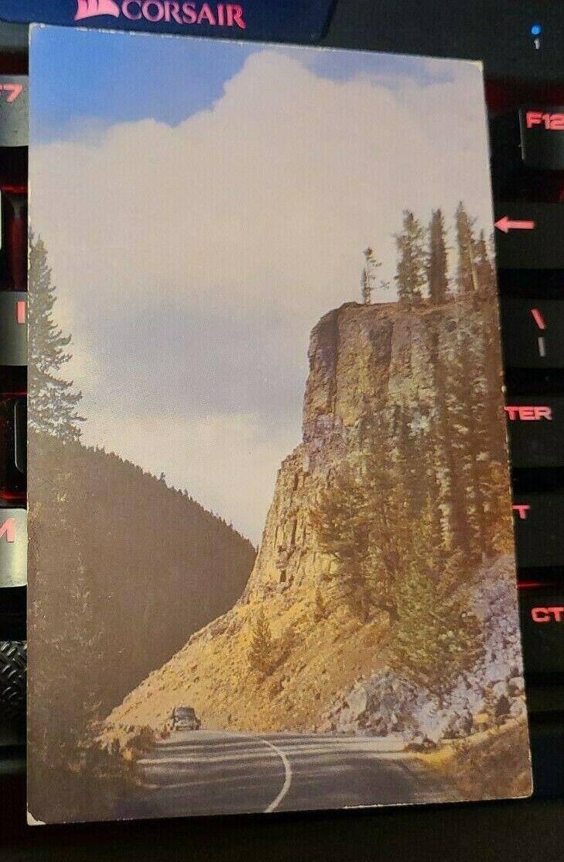 Yellowstone National Park Obsidian Cliff Postcard Old Vintage Kodachrome