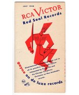 RCA Victor Red Seal Records Music July 1948 Advertising Ephemera Brochure - $10.99