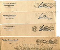 USA Senate House of Representatives Free Postage Cover Envelope Cuts Washington image 4