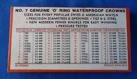 """Vintage No.7 """"O"""" Ring Waterproof Crowns For Swiss & American Watches - $9.99"""