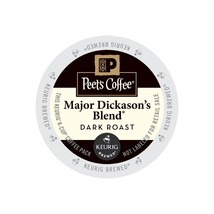 Peet's Coffee Major Dickason's Blend Coffee, 22 Kcups, FREE SHIPPING  - $19.99