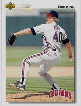 1992 Upper Deck Baseball Card, #679, Eric King, Cleveland Indians - $0.99