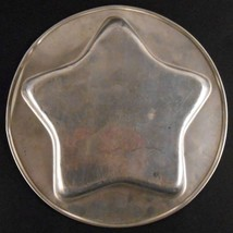 Star 5 Pointed Star Round Cake Pan Jello Mold Insert 10.5 inches Vintage - $15.19