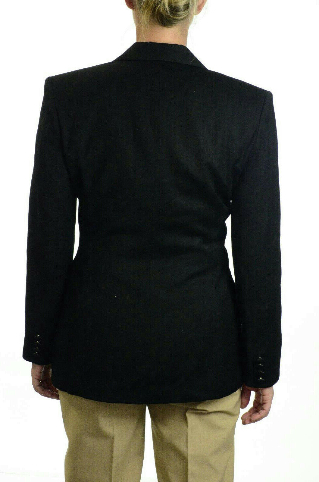 Sz 6 ABS Allen Schwartz California Wool Single Button Black Tuxedo Jacket/Blazer