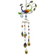 Natures Jewels Peacock Wind Chime - $23.98