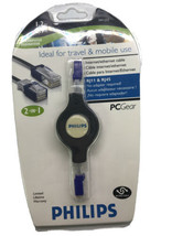 Philips 2 In 1 Internet/ethernet Cable RJ11 & RJ45 - $8.82