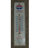 """Vintage Original Standard American Heating Oil 12"""" Wall Thermometer - Good - £61.18 GBP"""