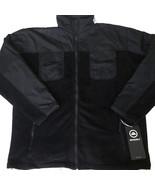 Snozu Mens Fleece Winter Jacket Sz XL Black Gray Full Zip Ski Hiking - $36.40