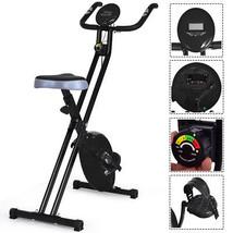 Folding Magnetic Exercise Bike LCD Display 3.5lbs Flywheel Resistance Ad... - $152.98