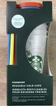 Starbucks Summer 2021 Confetti Color Changing Reusable Cold Cup Set of 5 - $39.50