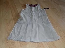 Girls Size 8 George Khaki Tan Beige School Uniform Pleated Jumper Dress New - $17.00