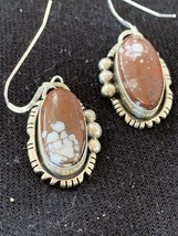 """Navajo Indian Crazy Horse Turquoise Sterling Silver Dangle Earrings 1"""" 1... - $196.02"""