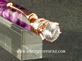 Queen Crown Royal Jewel Designer Amethyst Purple with Crystal - $34.99