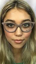 New Ray-Ban RB 6053 1557 52mm Beige Blue Cats Eye Women's Eyeglasses Frame  - $119.99
