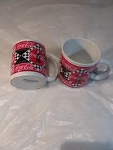 Vintage 1995 Coca Cola Coffee Cups By Enesco  - $5.00