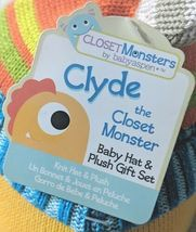 Babyaspen BA11036NA Clyde The Closet Monster Baby Hat And Plush 0 To 6 Months image 7