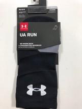 Men's Under Armour Run Sz M No Show Socks Shoe 4-8.5 Women 7-10.5 Black - $11.54