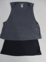 Champion Women Top XL Black Duo Sleeveless  Cotton Polyester 1806 - $8.60