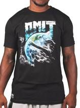 Omit Nero da Uomo Mother Earth Natura Storm Acqua Vento T-Shirt Nwt