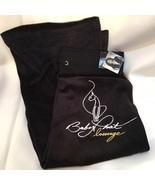 Baby Phat Black Velvet Velour Cropped Athletic Lounge Pants M NWT - $26.95