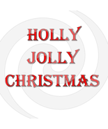 Holly Jolly Christmas Font 2smp-Digital ClipArt-Gift Tag-T shirt-Jewelry... - $2.50