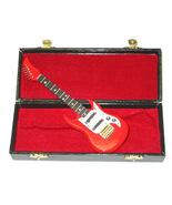 MINI ELECTRIC GUITAR DECORATION COMES IN VELVET LINED CASE - $9.99