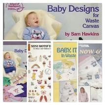 Cross Stitch Patterns Baby 4 Booklets Nursery Maternity Child Animals Lo... - $14.87