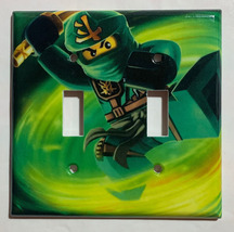 Ninjago LLOYD green Light Switch Outlet duplex wall Cover Plate Home Decor image 5