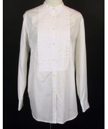 NWT RALPH LAUREN Size 20W White Tucked Tunic Long Shirt - $41.99