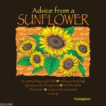 Garden T-shirt S M XXL Gildan Advice From a Sunflower NWT New Cotton Brown - $20.20