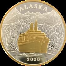 Alaska Mint 2020 Cruise Ship Medallion Gold & Silver Medallion Proof 1 Oz - $98.99