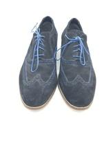 Cole Haan Men NikeAir Wingtip Black Blue Suede Shoes Size 13 - $51.41