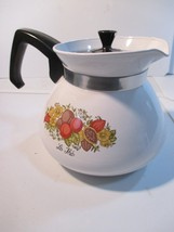 Vintage Corning Ware P-104 Spice of Life 6 Cup Coffee Tea Pot with Lid - $10.88