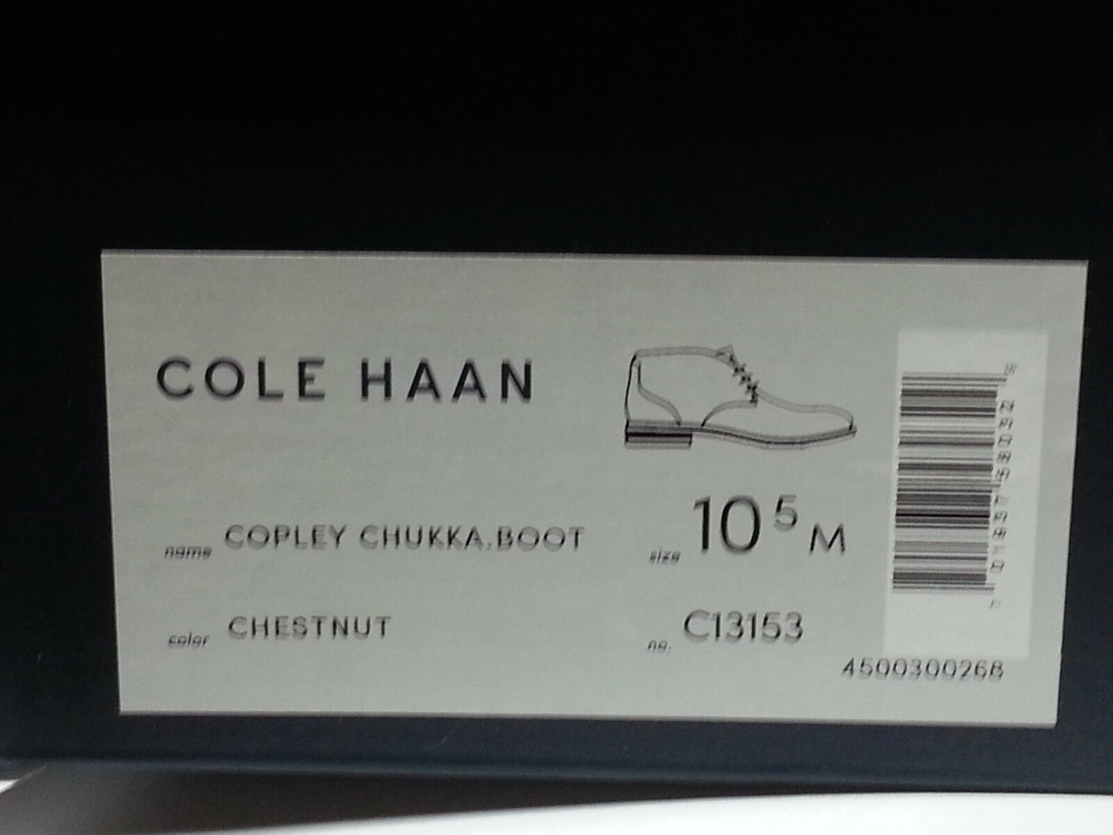 Cole Haan Men Size 10.5 Brown Leather Copley Chukka Boots Made in India New Box image 11