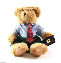 Winston Plush 9-in Bear Russ Berrie 'Bears from the Past' Tie Briefcase #3358 - $7.50