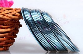 G: 2PCSLIGHT BLUE Rolls Striping Tape Line Nail Tips Sticker DIY w/Free ... - $1.89