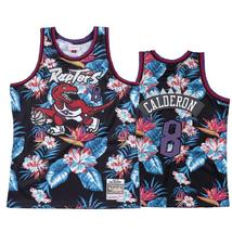 Men's Toronto Raptors 8 Jose Calderon Floral Black Jersey - $49.99