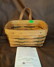 Longaberger 1995 Small KEY BASKET #17060 With Leather Strap Hanging - $14.00