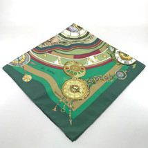 AUTHENTIC HERMES Carre 90 Scarf Green Silk - $150.00