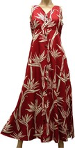 Red Pareau Paradise Print Button Front Long Maxi Dress Paradise Found™ /... - $89.05+