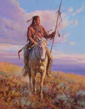 Sunrise Sentinel Martin Grelle Western Native American Limited Ed. Canva Giclee - $173.25