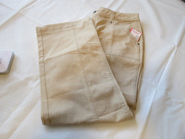 Faded Glory Stretch FG Utility Pant Womens Ladies 12 average Washed Vallejo Tan - $25.73