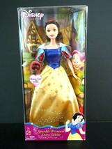 NIB 2004 Disney Sparkle Princess Snow White Mattel G7936 with Ring - $14.84
