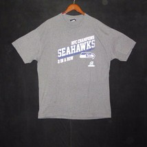NFL Seattle Seahawks NFC Champions 2 In A Row Gray T Shirt Mens Extra Large - $14.84