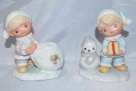 Homeco 5613 Vintage Set Christmas Children Pastel Figurines Precious Mom... - $11.40