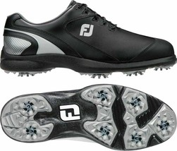 NEW! FootJoy Men's Sport LT Golf Shoes 58038-Black/Silver - 10.5 Medium - $128.58