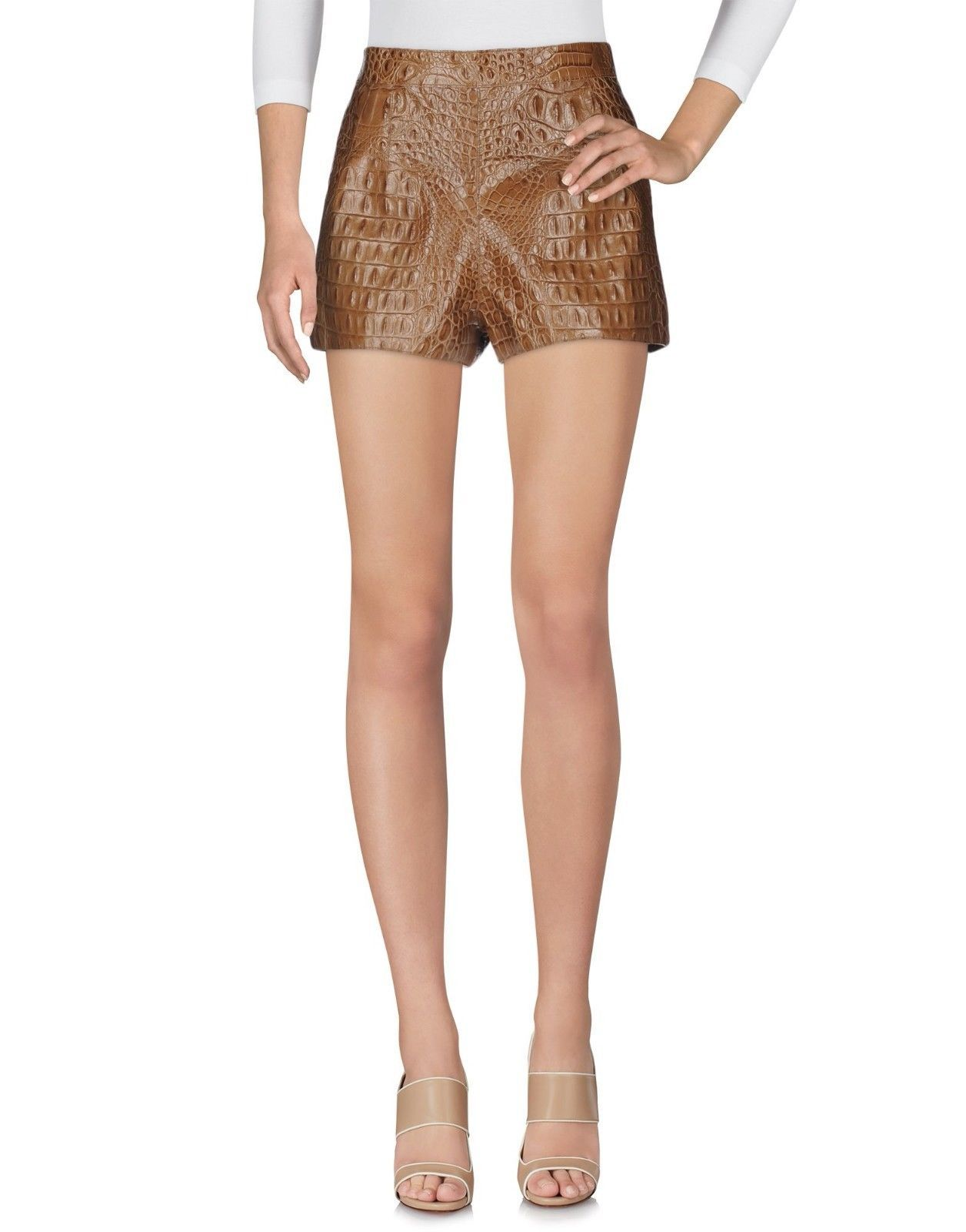 Crocodile Print Pant Hot & Sexy Style Women's Genuine Soft Leather Short Pants