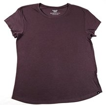 Hurley Women's Easy Crew Tee Shirt, Plum (M)